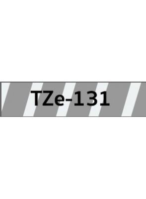 TZe-131 (12มม. x 8เมตร พื้นใส ตัวอักษรดำ)