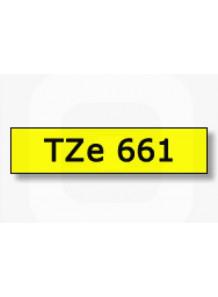 TZe-661 (36มม. x 8เมตร พื้นเหลือง ตัวอักษรดำ)