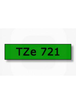 TZe-721 (9มม. x 8เมตร พื้นเขียว ตัวอักษรดำ)