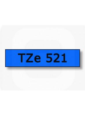 TZe-521 (9มม. x 8เมตร พื้นน้ำเงิน ตัวอักษรดำ)