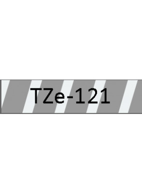 TZe-121 (9มม. x 8เมตร พื้นใส ตัวอักษรดำ)