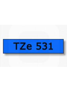 TZe-531 (12มม. x 8เมตร พื้นสีฟ้า ตัวอักษรดำ)