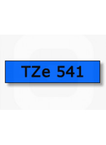 TZe-541 (18มม. x 8เมตร พื้นน้ำเงิน ตัวอักษรดำ)