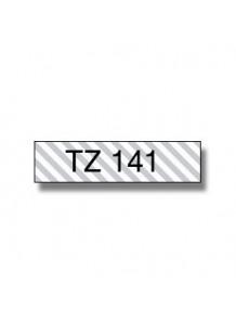 TZe-141 (18มม. x 8เมตร พื้นใส ตัวอักษรดำ)