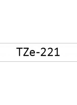TZe-221 (9มม. x 8เมตร พื้นขาว ตัวอักษรดำ)