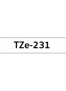 TZe-231 (12มม. x 8เมตร พื้นขาว ตัวอักษรดำ)