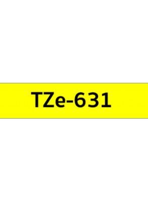 TZe-631 (12มม. x 8เมตร พื้นเหลือง ตัวอักษรดำ)